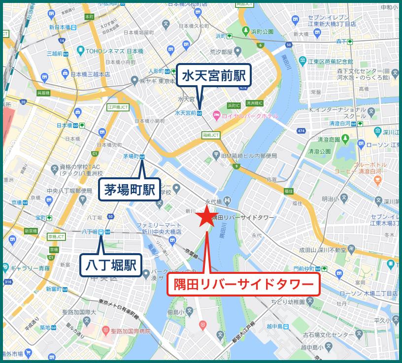 隅田リバーサイドタワーの地図
