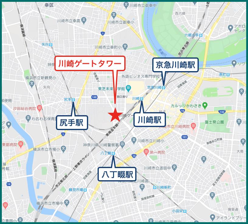 川崎ゲートタワーの地図