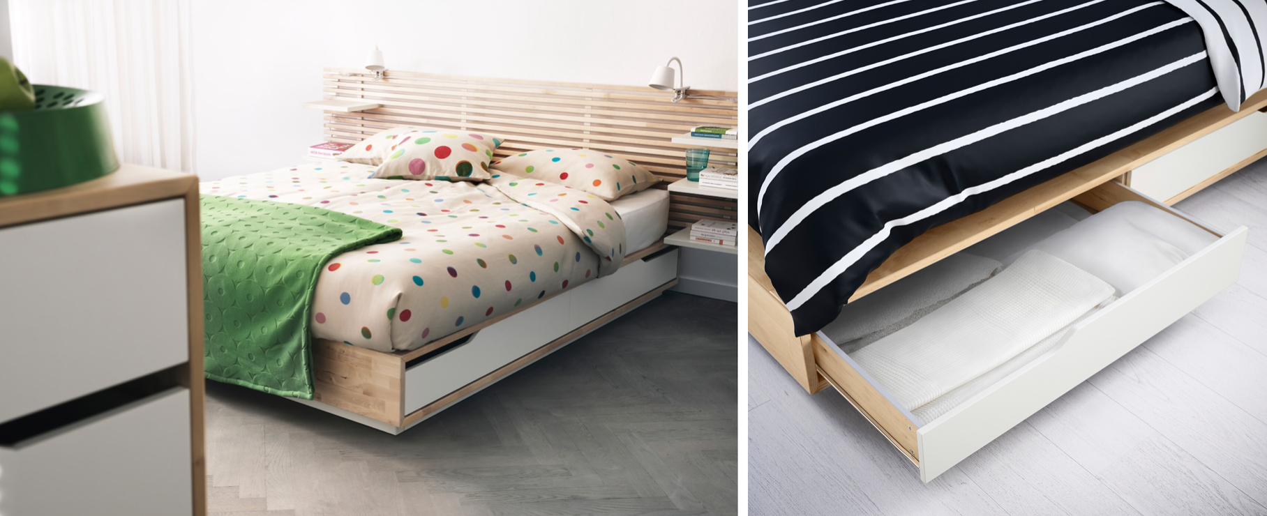 IKEAの収納付きベッド