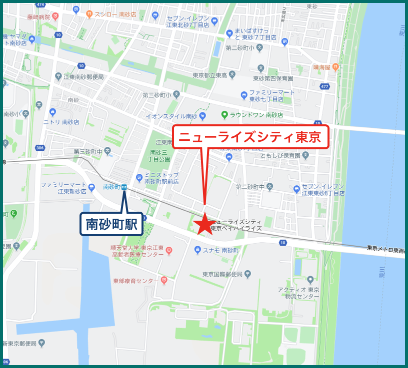 ニューライズシティ東京ベイハイライズの地図