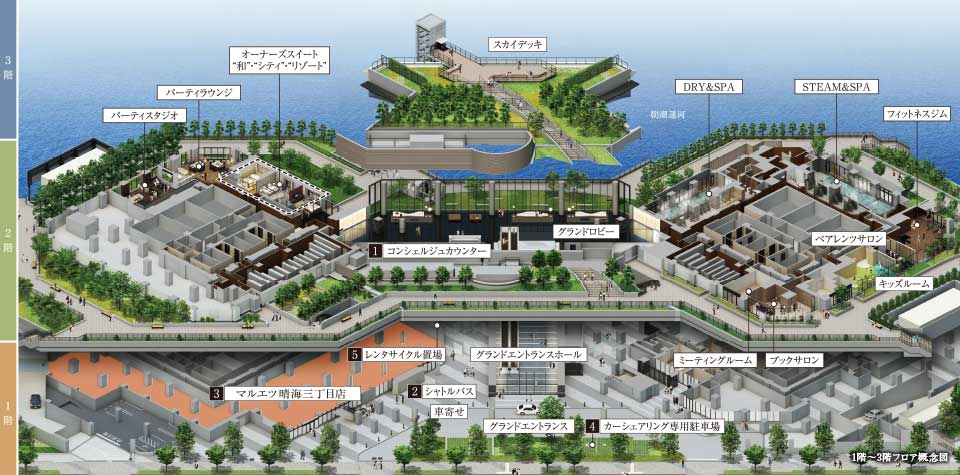 ドゥトゥールの共有施設イメージ