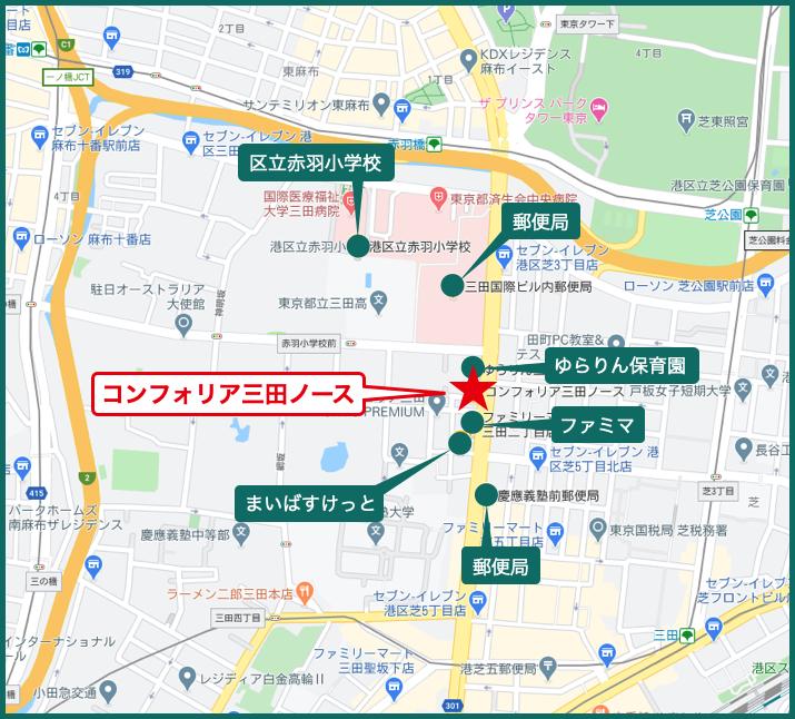 コンフォリア三田ノースの周辺施設