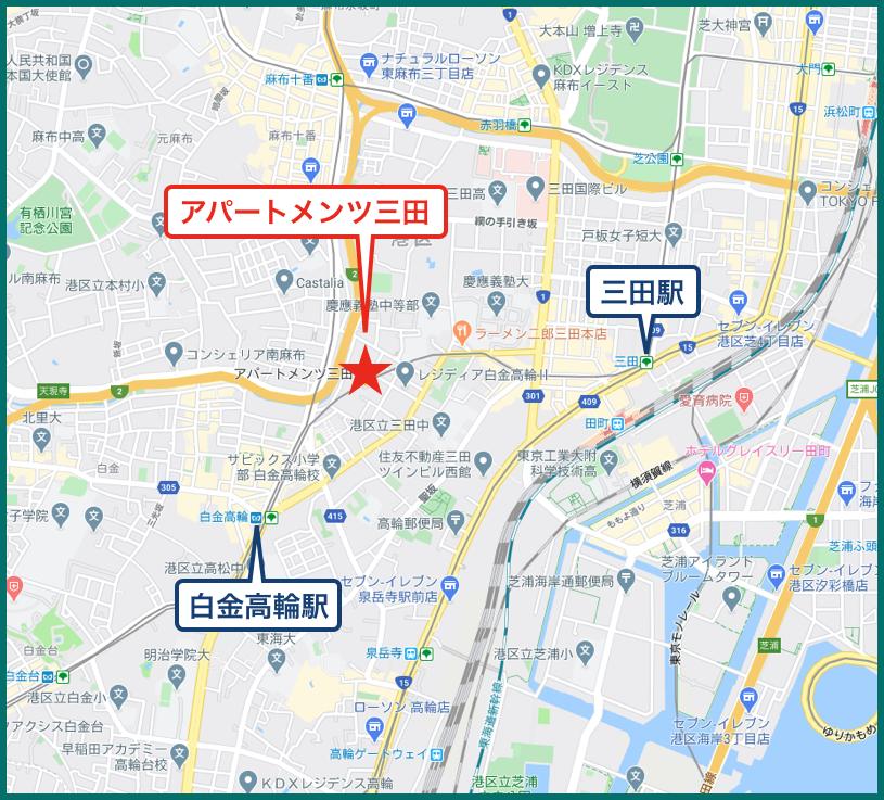 アパートメンツ三田の地図