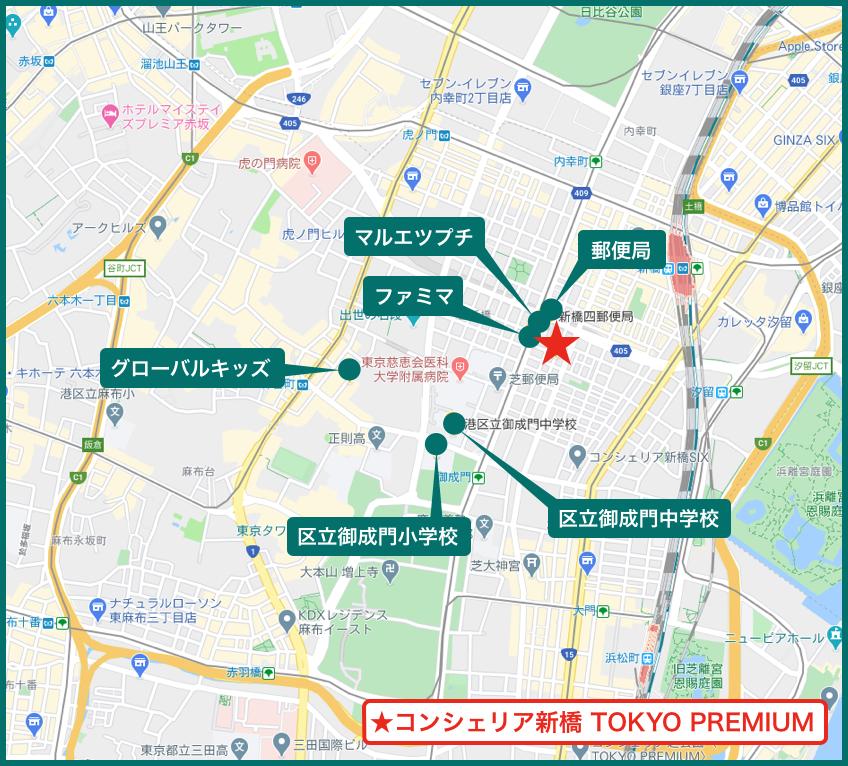 コンシェリア新橋 TOKYO PREMIUMの周辺施設