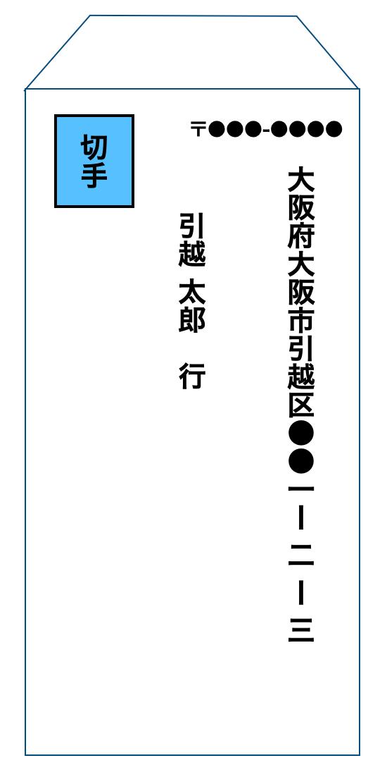 返信用封筒の記入例