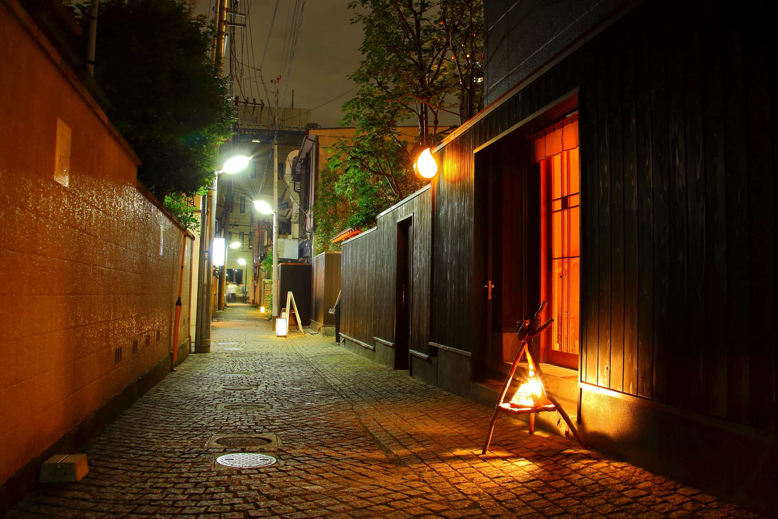 神楽坂の路地裏写真