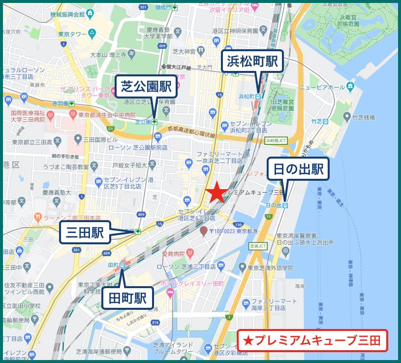 プレミアムキューブ三田の地図