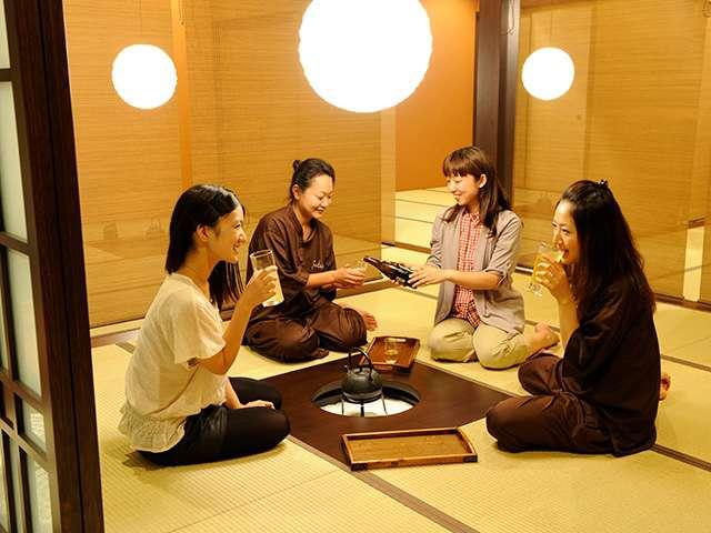 東京染井温泉Sakuraの談話室
