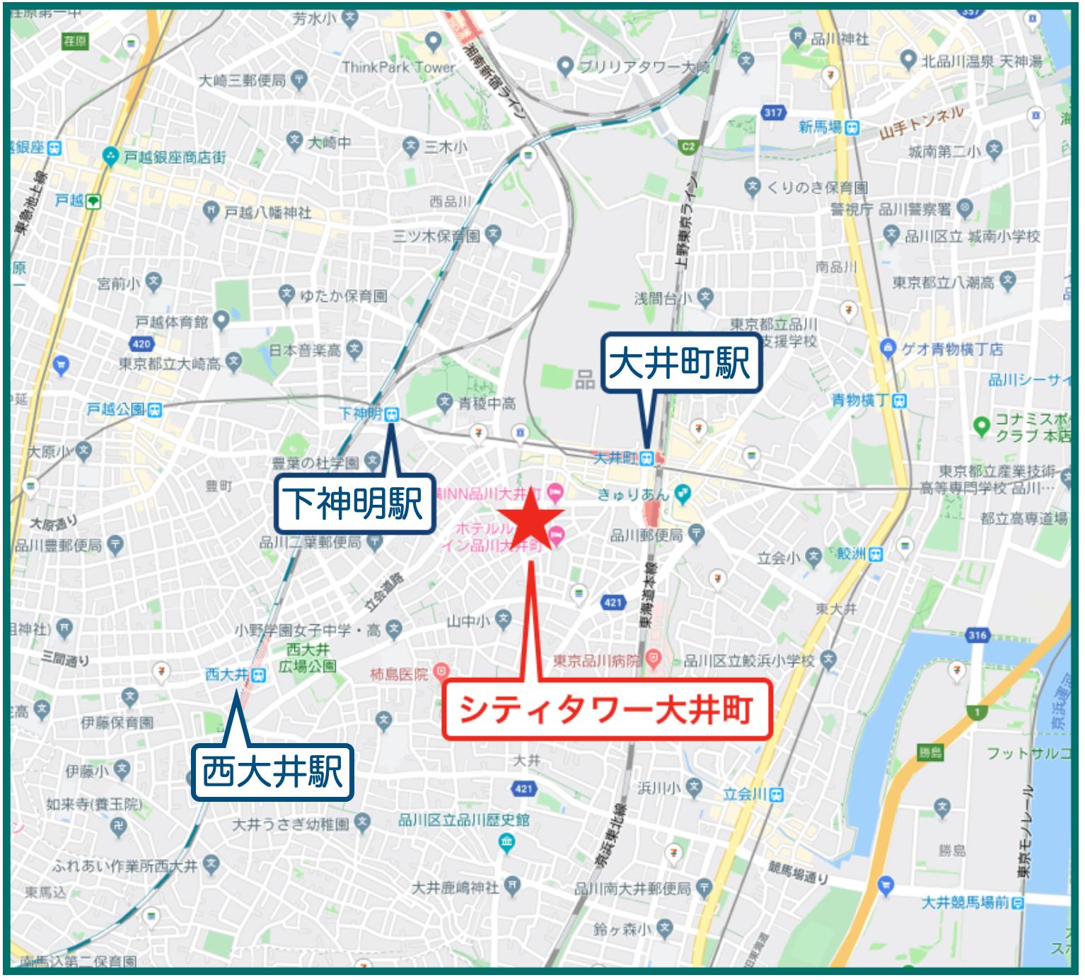 シティタワー大井町の地図