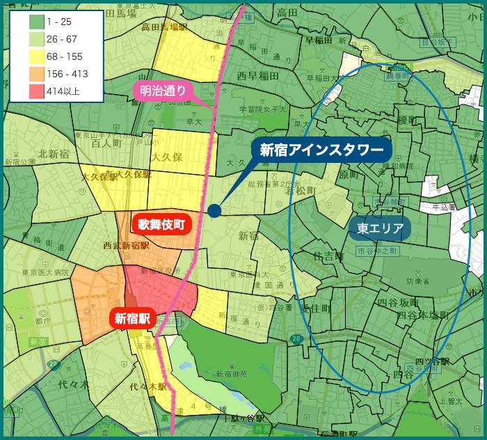 新宿アインスタワー 犯罪マップ