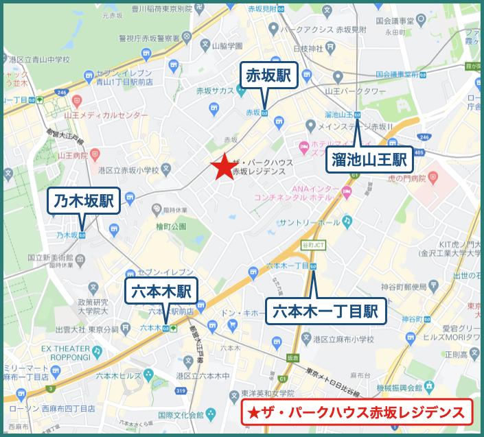 ザ・パークハウス赤坂レジデンスの地図