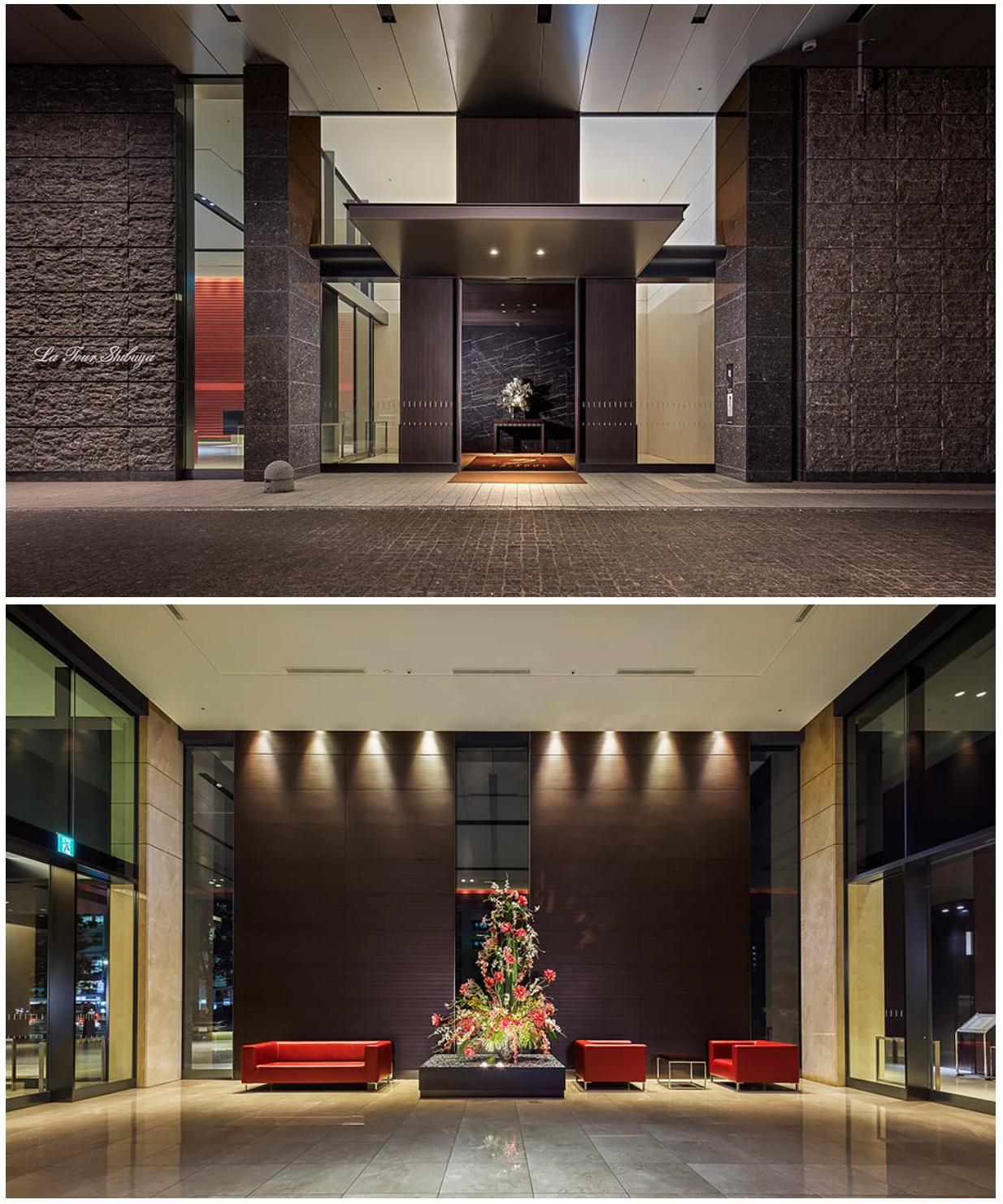 ラ・トゥール渋谷のエントランスホール
