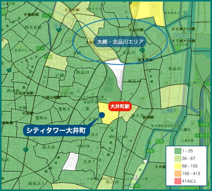 シティタワー大井町 犯罪マップ