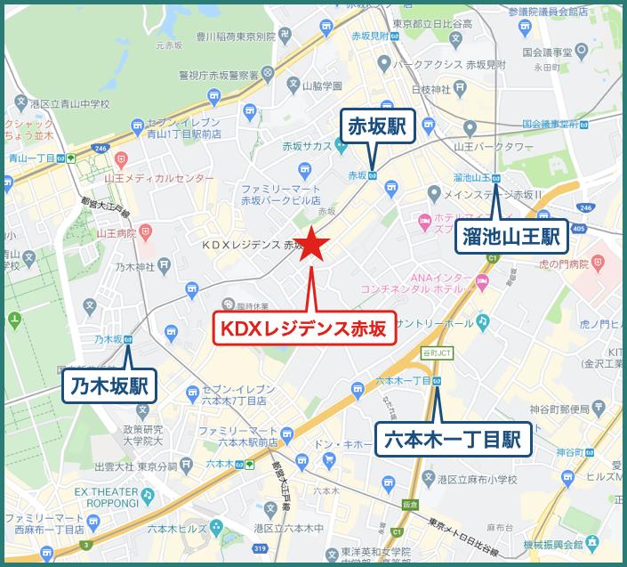 KDXレジデンス赤坂の地図