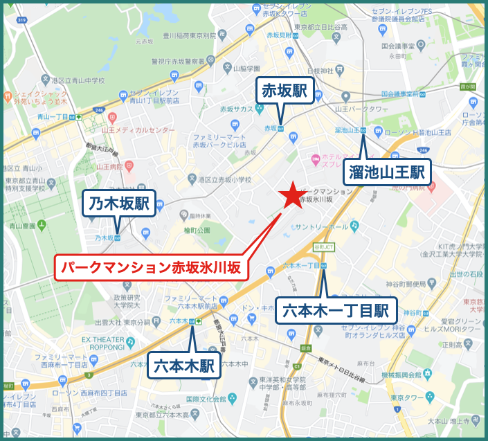 パークマンション赤坂氷川坂の地図