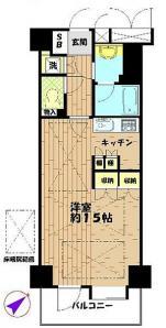 ライオンズシティ西新宿の間取り(1K)