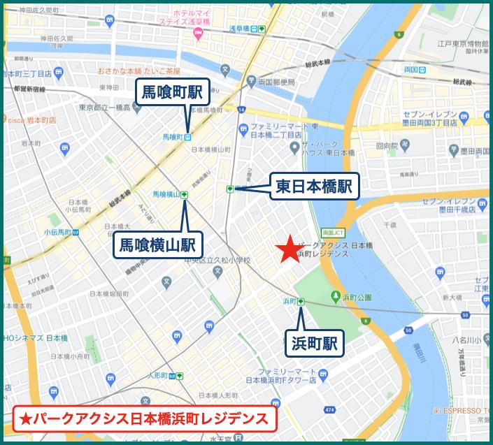 パークアクシス日本橋浜町レジデンスの地図