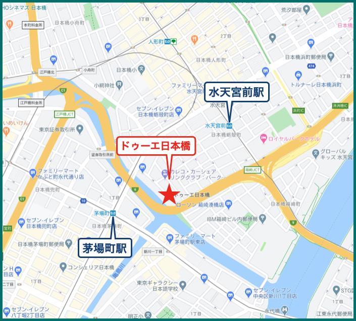 ドゥーエ日本橋の地図