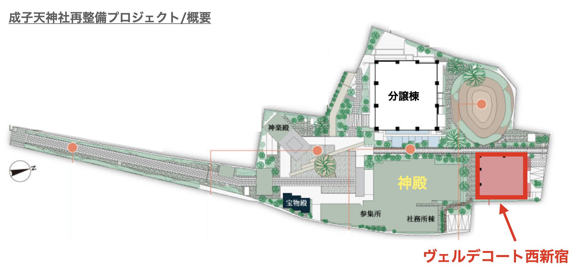 ヴェルデコート西新宿の敷地
