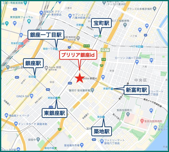 ブリリア銀座idの地図