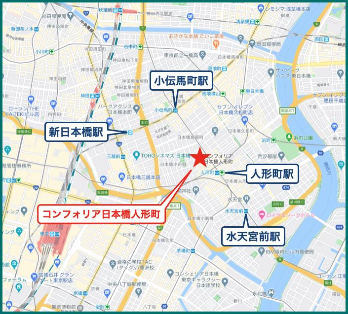 コンフォリア日本橋人形町の地図