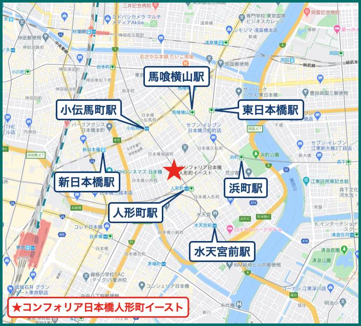 コンフォリア日本橋人形町イーストの地図