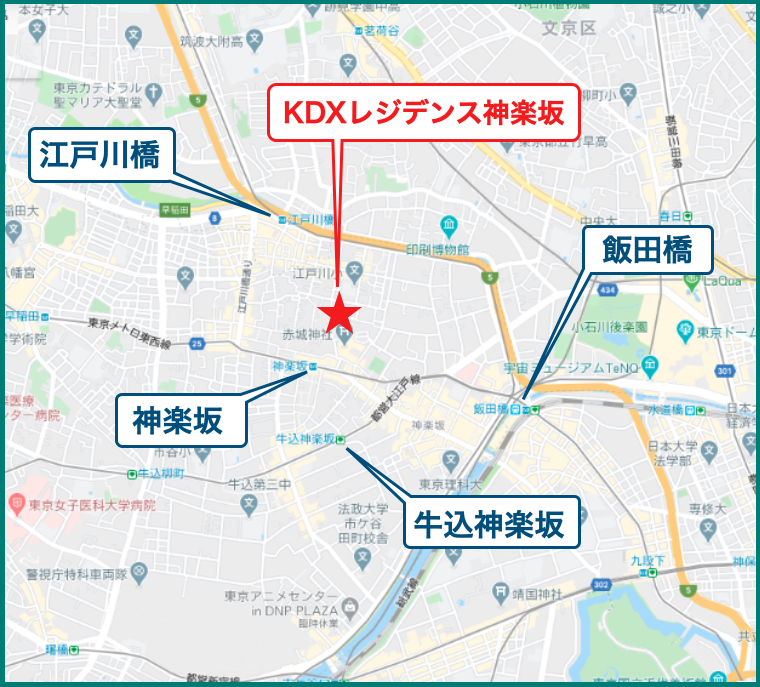 KDXレジデンス神楽坂の最寄駅