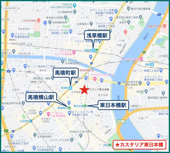 カスタリア東日本橋の地図