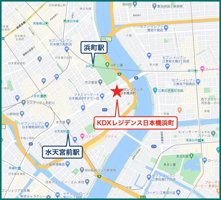 KDXレジデンス日本橋浜町の地図