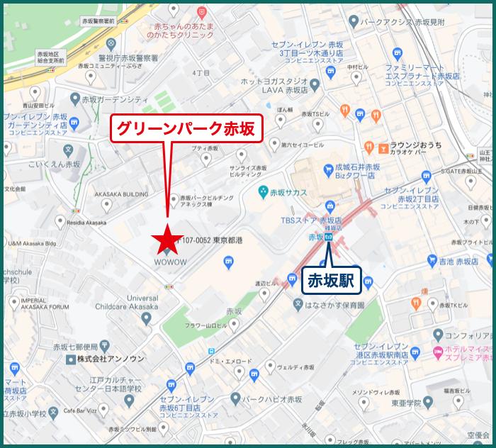 グリーンパーク赤坂の地図