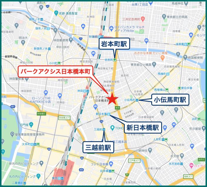 パークアクシス日本橋本町の地図