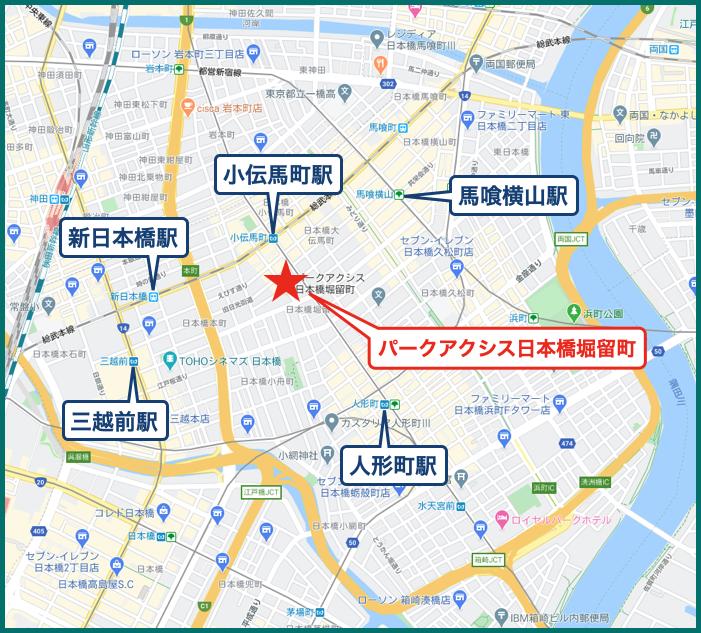 パークアクシス日本橋堀留町の地図