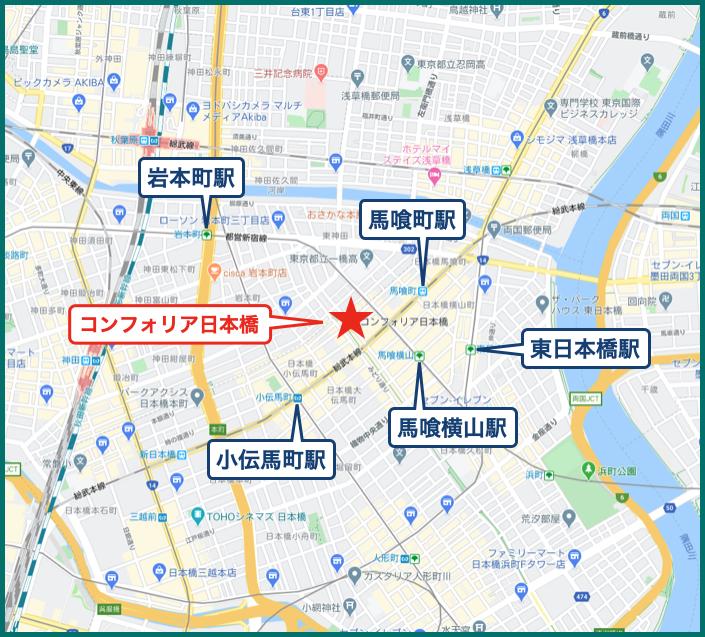 コンフォリア日本橋の地図