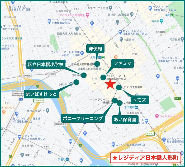 レジディア日本橋人形町の周辺施設