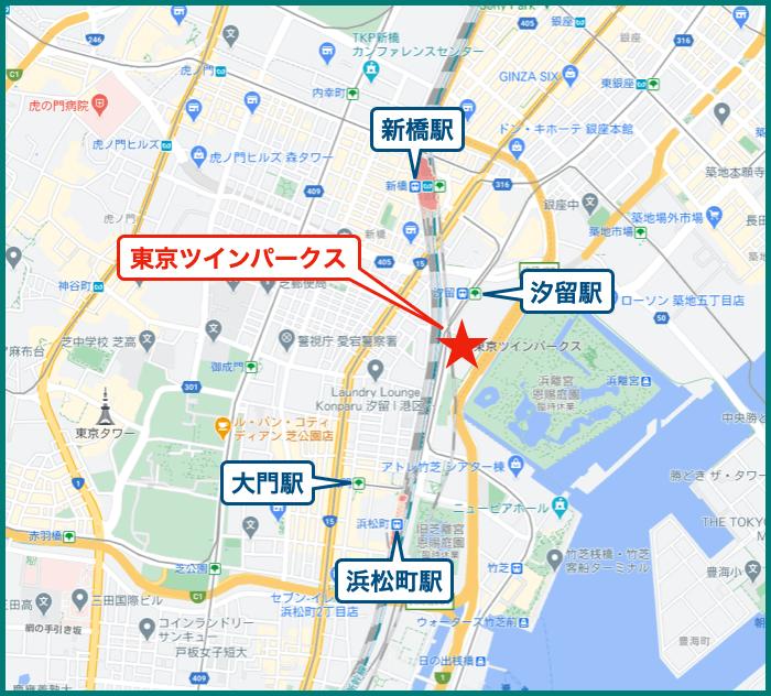 東京ツインパークスの地図