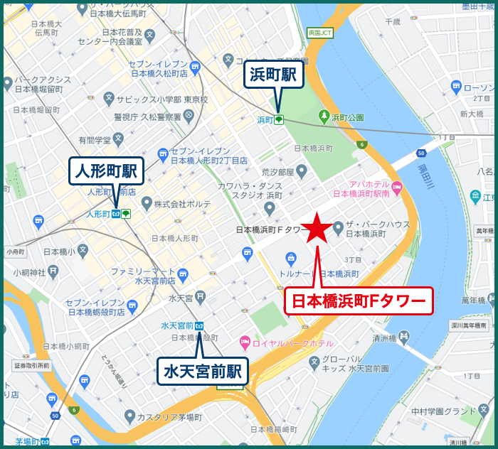 日本橋浜町Fタワーの地図