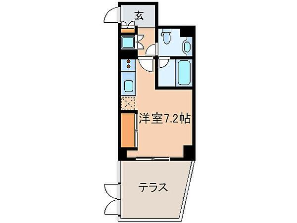 コンフォリア神楽坂の間取り(ワンルーム)