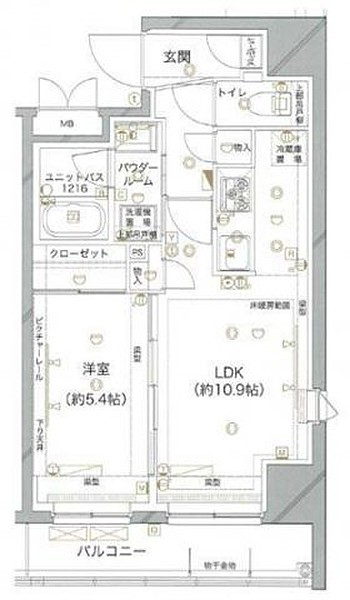 グランドコンシェルジュ神楽坂αsの間取り(1LDK)