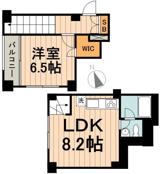 KDXレジデンス神楽坂通の間取り(1LDK)