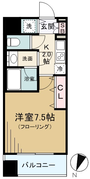 DIPS神楽坂の間取り(1K)