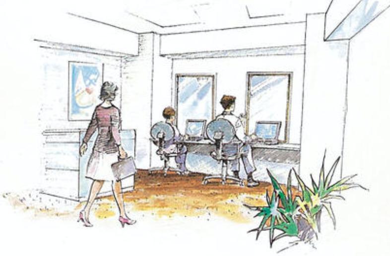オーベルグランディオベイフロントのホームオフィスコーナー