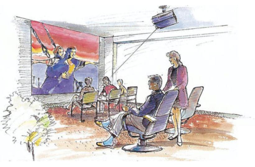 オーベルグランディオベイフロントのシアタールーム