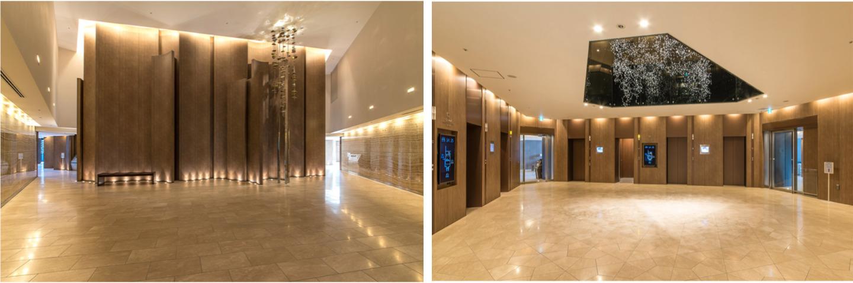 スカイズタワーのエレベーターホール