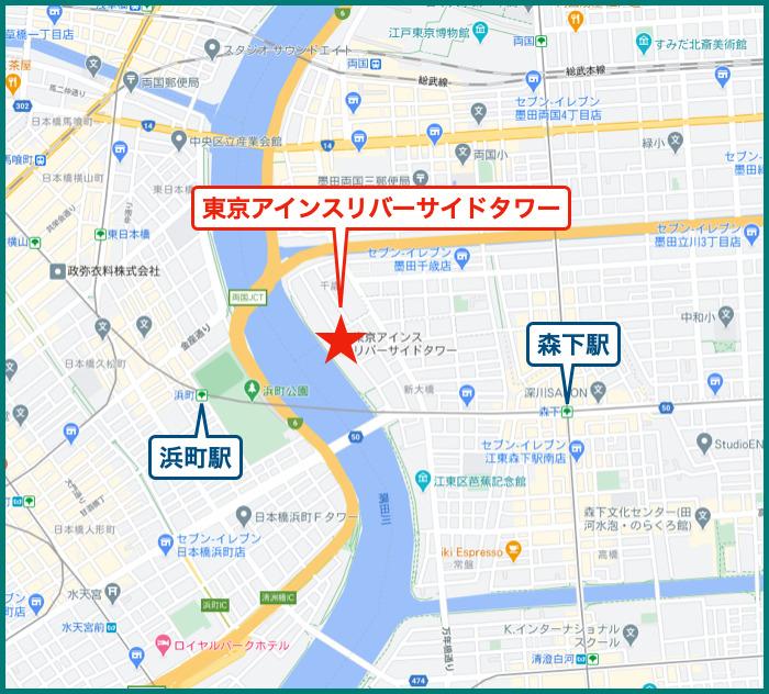 東京アインスリバーサイドタワーの地図