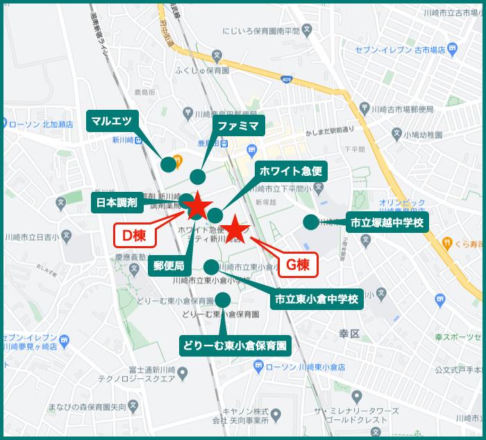 パークシティ新川崎の周辺施設