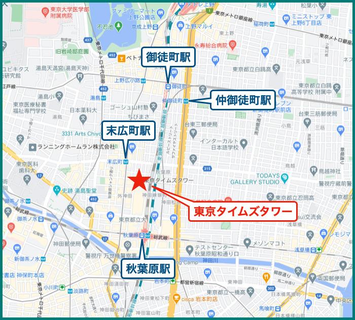 東京タイムズタワーの地図