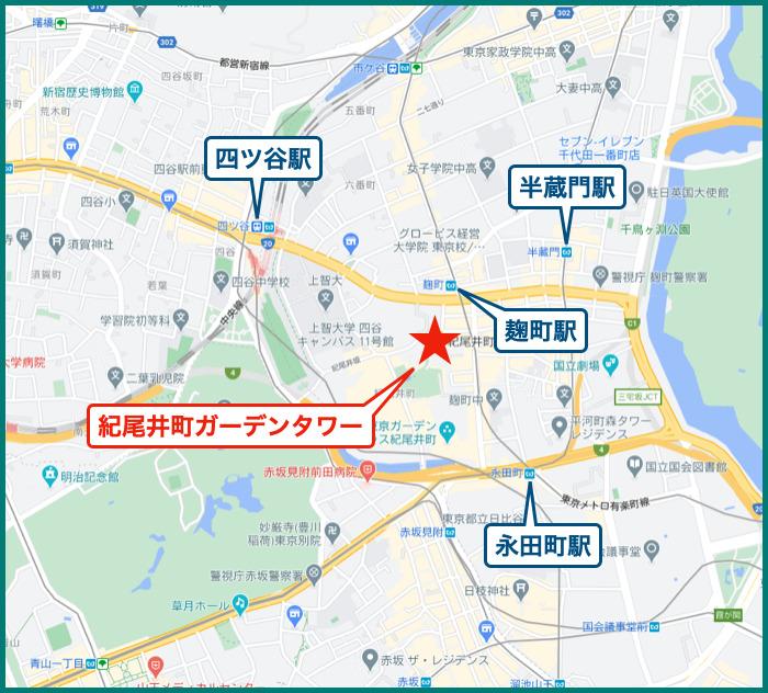 紀尾井町ガーデンタワーの地図