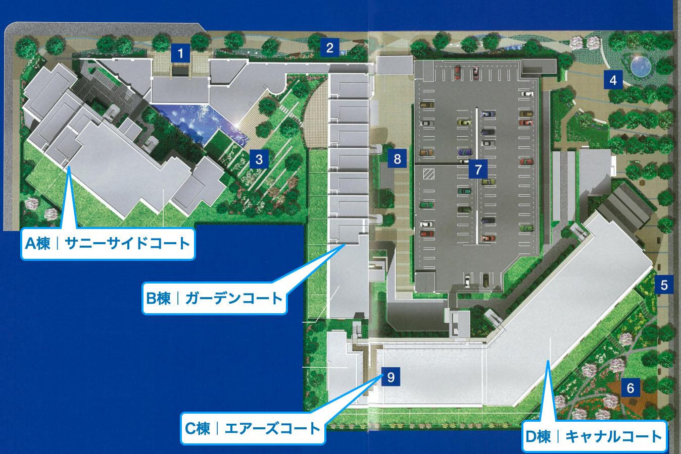 プライヴブルー東京の航空写真イメージ