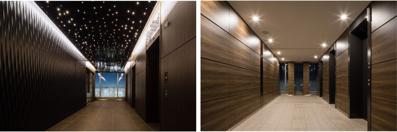 ベイズタワーのエレベーターホール