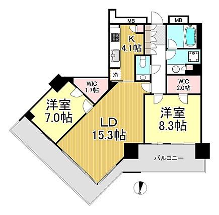 アーバンドックパークシティ豊洲タワーA棟の間取り図